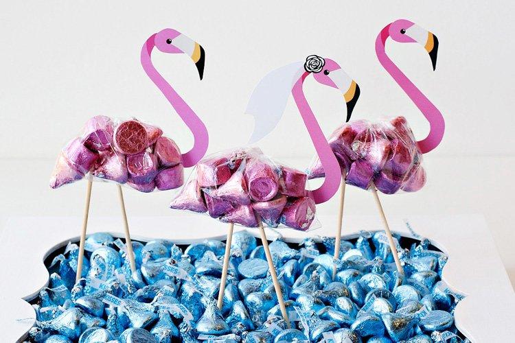 DIY Flamingo Party Favors