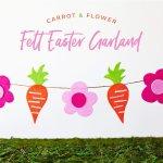 Modern Crafty Felt Easter Garland Tutorial Hostess With The Mostess