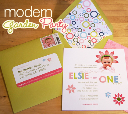 modern garden birthday party