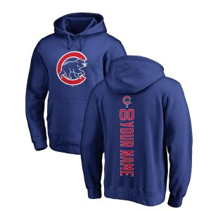 Men's Chicago Cubs Royal Personalized Backer Pullover Hoodie