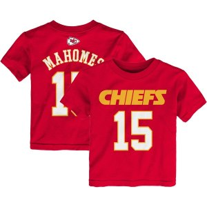 Preschool Kansas City Chiefs Patrick Mahomes Red Mainliner Name & Number T-Shirt