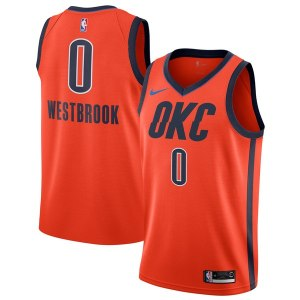 Youth Oklahoma City Thunder Russell Westbrook Nike Orange 2018/19 Swingman Jersey – Earned Edition