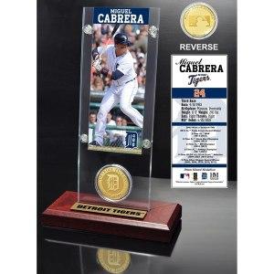 Detroit Tigers Miguel Cabrera 2015 Player Ticket & Coin