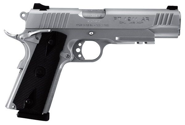 Taurus Pt Stainless 45 Acp Pistol Tactical Rail