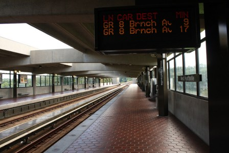 Photo of West Hyattsville Metro station by Flickr user Elvert Barnes http://bit.ly/1mghdli