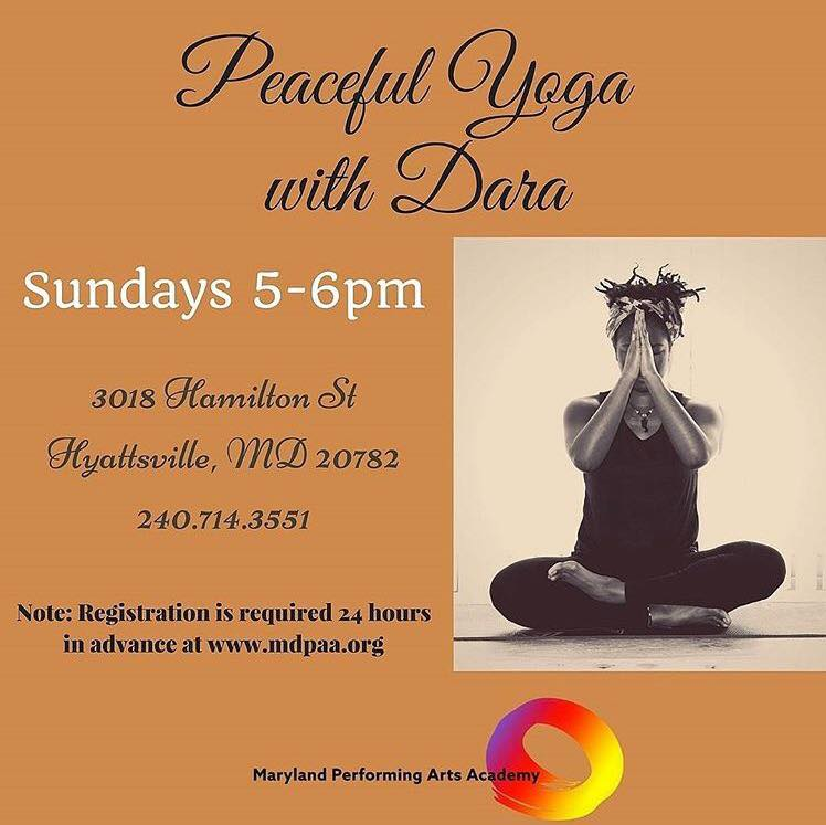 Yoga sundays with dara come to mdpaa sunday evenings at 5pm to relax revive and recharge for the week ahead in our yoga class with dara dee maryland performing arts academy m4hsunfo
