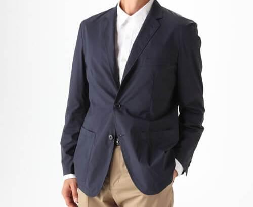 無印良品撥水ストレッチナイロン6ポケットジャケット紳士