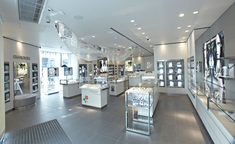 Hyden UK Shopfitters Swarovski Oxford Street London