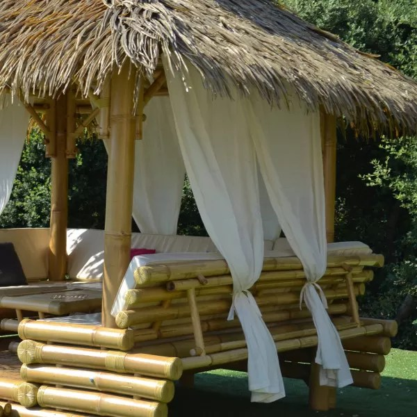 rideau pour gazebo bambou accessoires