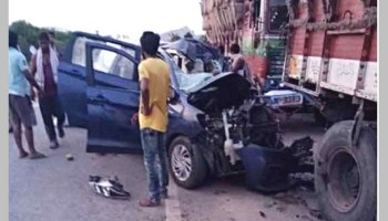 Three dead, two injured in accident on NH-65