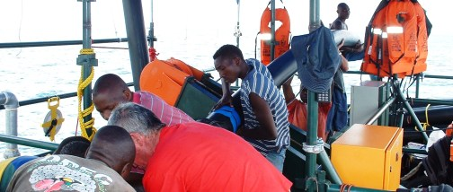 Repairs on the Kivu Pilot Project