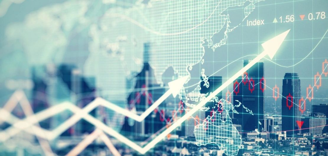 Financial markets and trends graphic - Stock photo