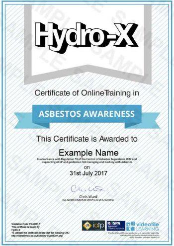 hx training asbestos awareness course home