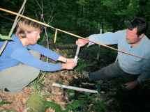 JP Gannon and Scott Bailey sampling a groundwater seep at Hubbard Brook.
