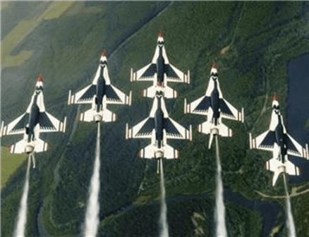 Air Force Thunderbird jet