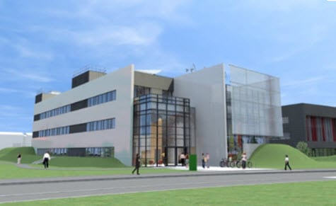 University of nottingham Energy Technologies Building - clean energy facility