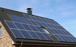 Solar Energy - solar panels on roof
