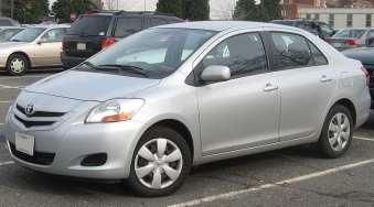 Sample Toyota Sedan Car (Not Hydrogen Fuel Vehicle)