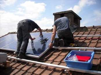 Solar Roof - Solar Energy Panels Installed on rooftop