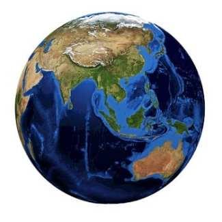 Asia Super Grid - World Globe
