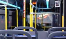 Volvo hybrid bus - Interior of public bus