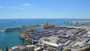 hydrogen fuel cells - Port in Barcelona, Spain