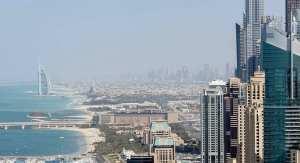 Solar hydrogen production - Dubai cityscape