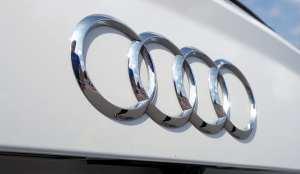 Audi hydrogen fuel cell tech - Audi logo on car