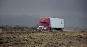 Hydrogen powered transport trucks - Truck on highway