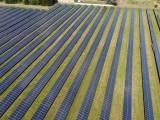 Green power initiative - solar panels in field