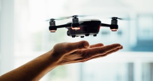 Hydrogen Technology - Drone hovering over hand
