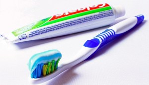Recyclable toothpaste tube - Colgate toothpaste and toothbrush