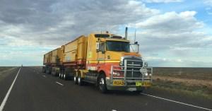 hydrogen fuel cell trucks - truck on road