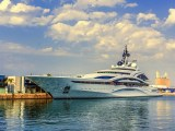 hydrogen fuel powered superyacht - Images of yacht in marina