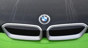 BMW hydrogen fuel cell - BMW Logo on car