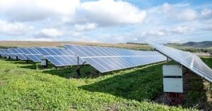 Solar panel output - solar energy panels in sun