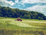 Climate change challenges - Tractor in Field