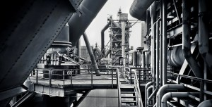 Steelmaking technology - image of steel mill