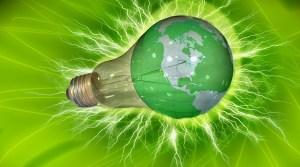 NuScale Power Module - light bulb - green background - globe