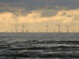 New Jersey offshore wind farm - wind turbines on water