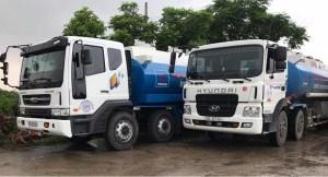 Fuel cell trucks - Image of Hyundai trucks