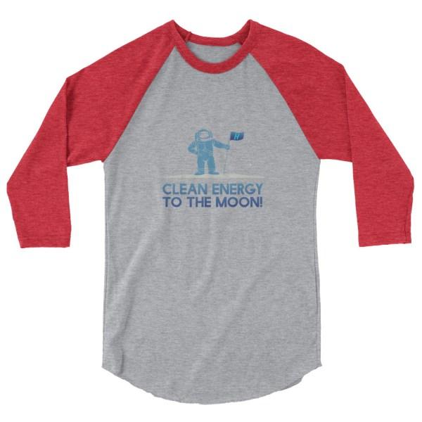 Astronaut Clean Energy 3/4 sleeve raglan shirt 7