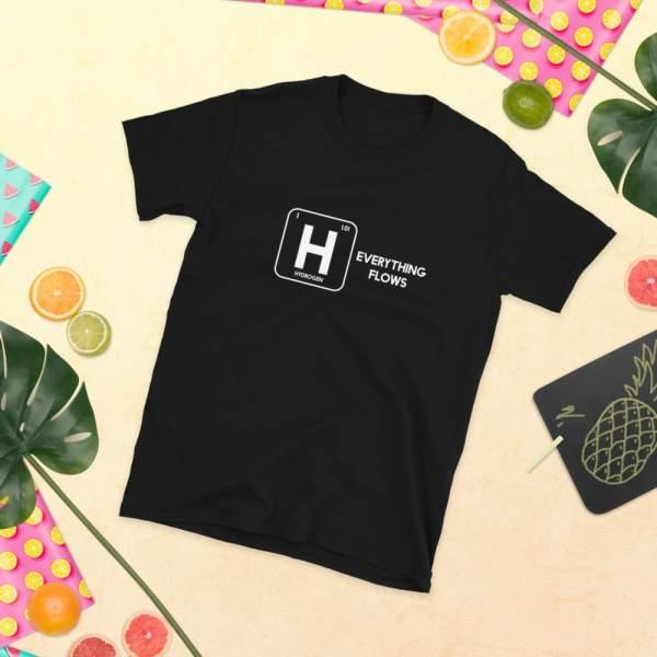 Hydrogen Everything Flows Short-Sleeve Unisex T-Shirt 6