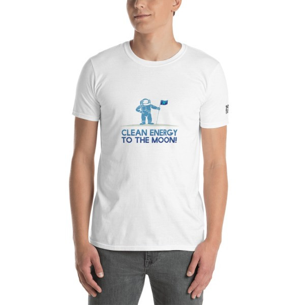 Clean Energy To The Moon Short-Sleeve Unisex T-Shirt 16