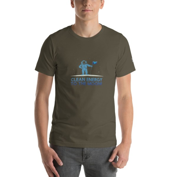 Clean Energy to the Moon Short Sleeve T-Shirt - Multiple Color Options 64