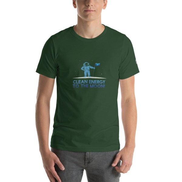 Clean Energy to the Moon Short Sleeve T-Shirt - Multiple Color Options 58