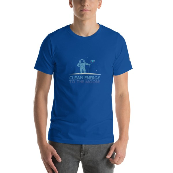 Clean Energy to the Moon Short Sleeve T-Shirt - Multiple Color Options 61