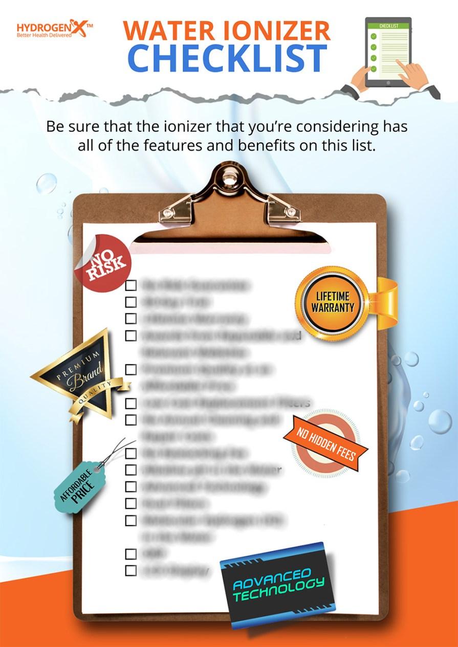 Water Ionizer Checklist Ebook