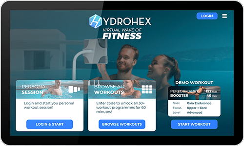 Virtual aqua fitness dashboard
