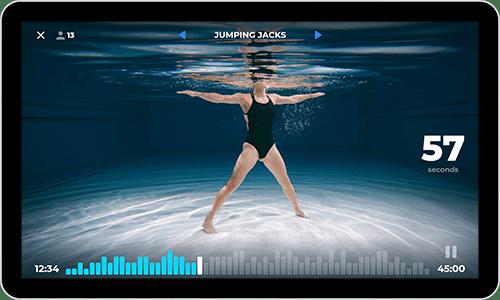 Virtual underwater video